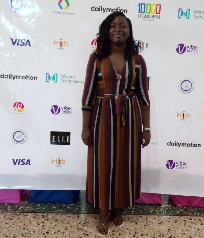 Audrey EHOUMAN CEO AE Tech Consulting et initiatrice d'Abidjan Women In Tech Conf.